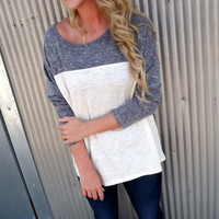 Comfy Color Block Top | The Rage