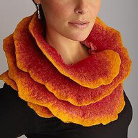 Sunrise Rose Scarf: Jenne Giles: Silk &amp; Wool Scarf - Artful Home
