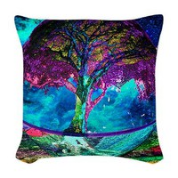 treeoflifemeditation Woven Throw Pillow> Tree of Life > Tree of Life Shop