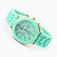 Mint Color Silicone Watch 07 from AsbestosAccessories