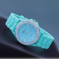 Mint Color Silicone Watch 04 from AsbestosAccessories