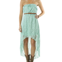 Belted High-Low Lace Dress | Shop Dresses at Wet Seal