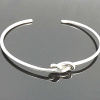 Knot Bracelet - birthday, wedding, Mothers Day, friendship - Sterling silver