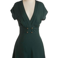 Four Square Dress in Forest