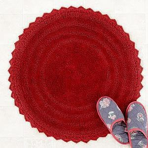 round bath mat red bath rugs from cost plus world market