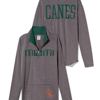 University of Miami Raw Half-zip Pullover - PINK - Victoria's Secret