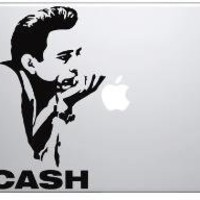 Johnny Cash fits any Laptop  Great quality and fast by Vinylstudio
