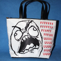 Rage Guy and Trollface Bucket Bag Purse Reddit by Valiantstudios