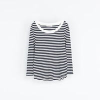 ORGANIC COTTON STRIPED T - SHIRT - T - shirts - Woman | ZARA United States