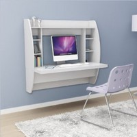 Prepac White Floating Desk with Storage:Amazon:Home & Kitchen