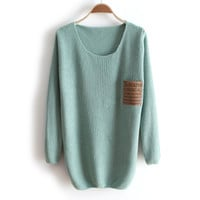 A 081907 Thick collar loose long-sleeved sweater bottoming