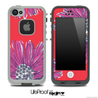 Artistic Purple Flower Skin for the iPhone 5 or 4/4s LifeProof Case