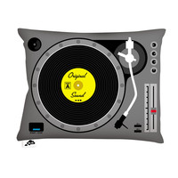 Aksel Varichon: DJ Pillow 20x14 Black Gray, at 25% off!