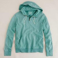 Sun-faded fleece half-zip hoodie - J.Crew