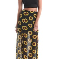 Nollie 2 Front Slit Sunflower Skirt at PacSun.com