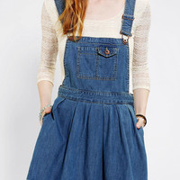 Coincidence & Chance Pleated Denim Overall Skirt