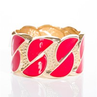 Gleefully Glam Enamel Hinge Bracelet - Red from Glam at Lucky 21