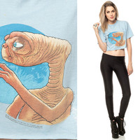 E.T. Shirt The EXTRA TERRESTRIAL Tshirt 80s Tee by ShopExile