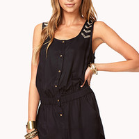 Studded Edge Satin Romper