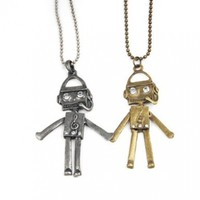 World Pride New Fashion Charming Jewelry Ancient Style Cute Robot Notes Pendants Necklaces:Amazon:Jewelry