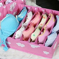 7Cells Bra Drawer Closet Divider Storage Organizer Box Underwear Socks Ties With Cover:Amazon:Home & Kitchen