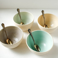 Stoneware Bowl Set by SuiteOneStudio on Etsy