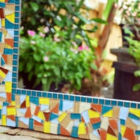 Custom Mosaic Mirror -- You Choose the Colors