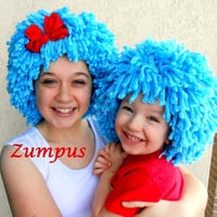 Halloween Costume, Thing 1 Thing 2 Wigs, Dr Seuss, Blue Wig, Adult Costumes, Costumes for kids