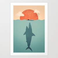 Shark Attack  Art Print by Filiskun