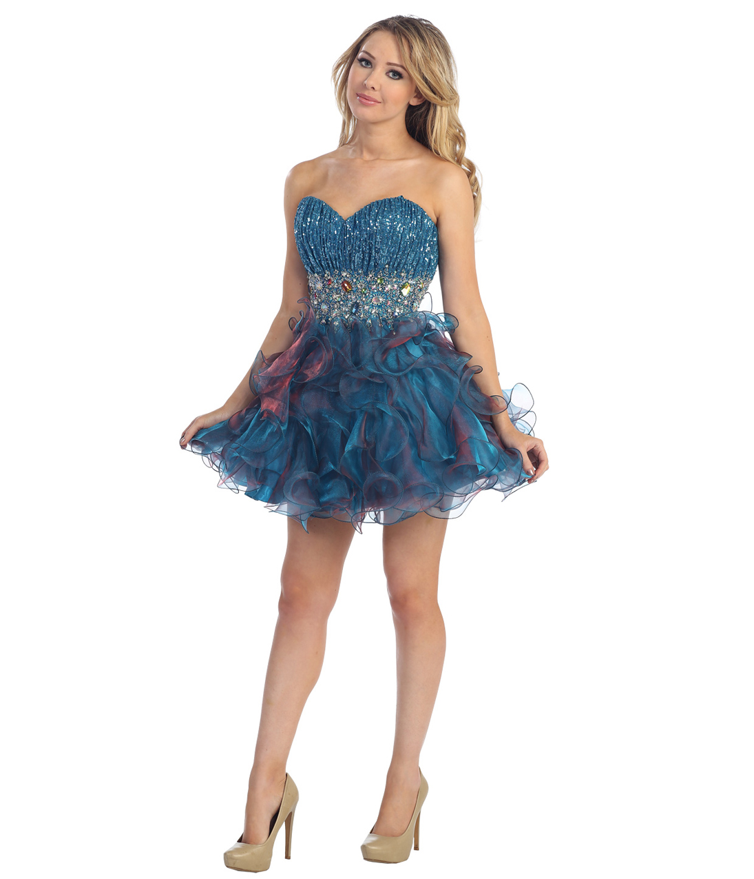 2013 prom dresses teal blu from uniquevintagecom on