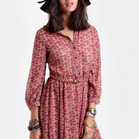 Jardin Floral Belted Dress