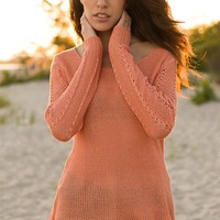 Dare to Layer Open Knit Pullover - Peach from Bohemian at Lucky 21