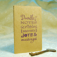 Doodles Moleskine Notebook by twohanddesign on Etsy
