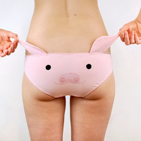 panties with a pig face and ears lingerie underwear