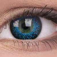 Eyelush Aqua Colour Contact Lenses | EyesBright.com