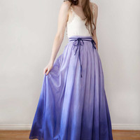 Long Skirt Maxi Skirt 'Lily skirt in Lilac' by Archella on Etsy