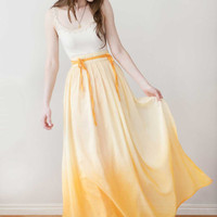 Long Skirt Maxi Skirt 'Lily skirt in Yellow' by Archella on Etsy