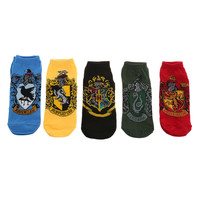 Harry Potter House Crest No-Show Socks 5 Pair | Hot Topic