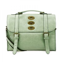 Vintage Green Cambridge Satchel