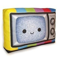Happy Color TV Mini Decor Pillow by mymimi on Etsy