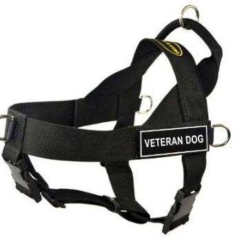 Dean & Tyler Universal No Pull 36-Inch to 47-Inch Dog Harness, Veteran Dog, X-Large, Black