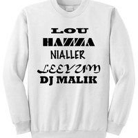 NEW -  One Direction Nicknames Crewneck Sweatshirt