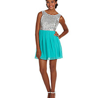 B. Darlin Sleeveless Sequin Dress | Dillards.com