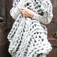 Big Loop Merino Chunky Knit Blanket or Rug Knit Kit 28'' x 40''
