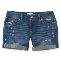 NEW! Painted Destroyed Denim Boyfriend Shorts