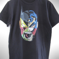 Limited edition men t shirt comics superman batman iron man hulk spiderman wolverine captain america daredevil