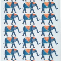Now Designs Teatowel, Elephants Print