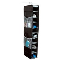 Richards Homewares Gearbox 10 Shelf Shoe Organizer - Black/Gray
