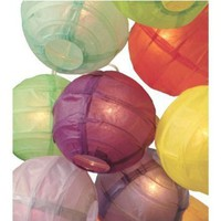 3.5&quot; D Multicolor Paper Lantern String Lights (set of 10)