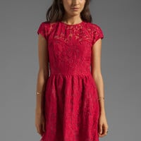 Dolce Vita Winsor Organza Lace Dress in Berry from REVOLVEclothing.com